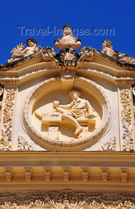 sardinia199: Sassari / Tàthari , Sassari province, Sardinia / Sardegna / Sardigna: Palazzo Cugurra - medallion with a child - photo by M.Torres - (c) Travel-Images.com - Stock Photography agency - Image Bank