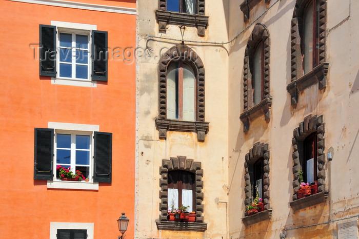 sardinia211: Sassari / Tàthari , Sassari province, Sardinia / Sardegna / Sardigna: windows of palazzo Tola - piazza Tola - Carra Manna - photo by M.Torres - (c) Travel-Images.com - Stock Photography agency - Image Bank