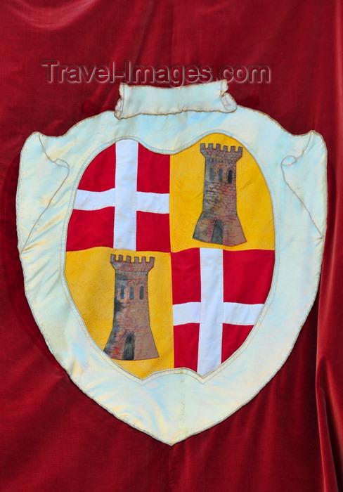 sardinia227: Sassari / Tàthari , Sassari province, Sardinia / Sardegna / Sardigna: the city's coat of arms - balcony of the City Hall - Palace of the Duke of Asinara - stemma - photo by M.Torres - (c) Travel-Images.com - Stock Photography agency - Image Bank