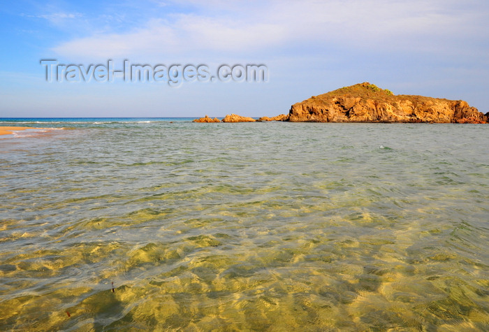 sardinia238: Baia di Chia, Domus de Maria municipality, Cagliari province, Sardinia / Sardegna / Sardigna: beach on the  Golfo degli Angeli - limpid sea - photo by M.Torres - (c) Travel-Images.com - Stock Photography agency - Image Bank