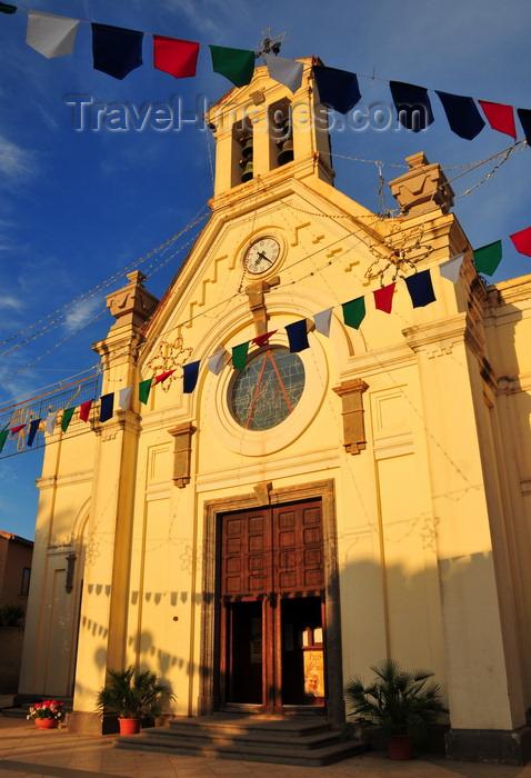 sardinia249: Pula, Cagliari province, Sardinia / Sardegna / Sardigna: Chiesa di San Giovanni Battista - built in 1899 - piazza Giovanni XXIII - photo by M.Torres - (c) Travel-Images.com - Stock Photography agency - Image Bank