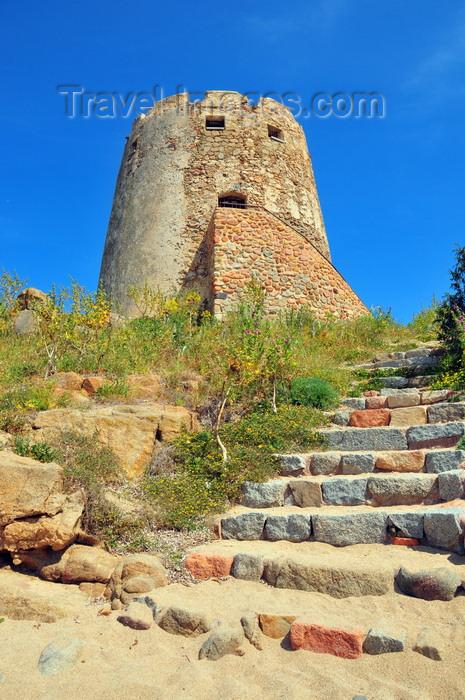 sardinia25: Bari Sardo, Ogliastra province, Sardinia / Sardegna / Sardigna: Torre di Bari - stairs to the Aragonese tower - photo by M.Torres - (c) Travel-Images.com - Stock Photography agency - Image Bank