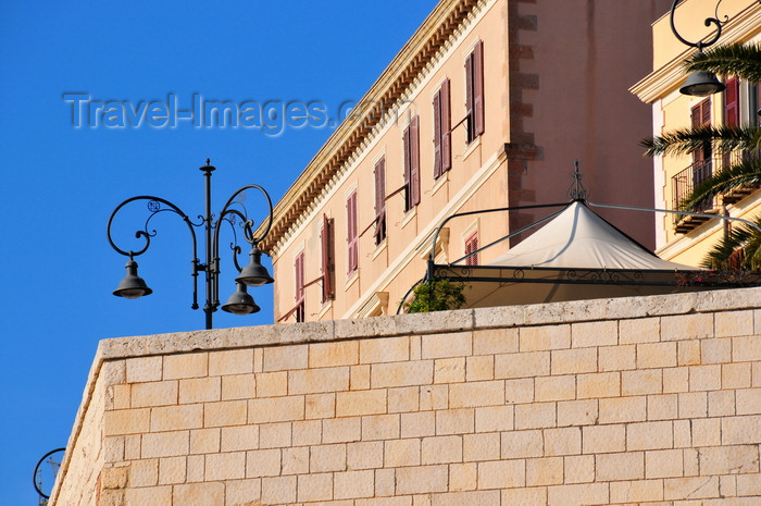 sardinia295: Cagliari, Sardinia / Sardegna / Sardigna: under Santa Croce bastion - view from Via Cammino Nuovo - quartiere Castello - photo by M.Torres - (c) Travel-Images.com - Stock Photography agency - Image Bank