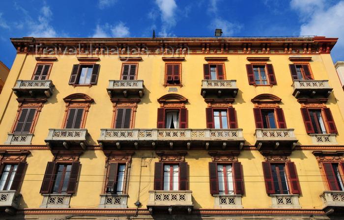 sardinia340: Cagliari, Sardinia / Sardegna / Sardigna: Palazzo Garzia - Via Roma, between Via Napoli and Via Barcellona - quartiere Marina - photo by M.Torres - (c) Travel-Images.com - Stock Photography agency - Image Bank