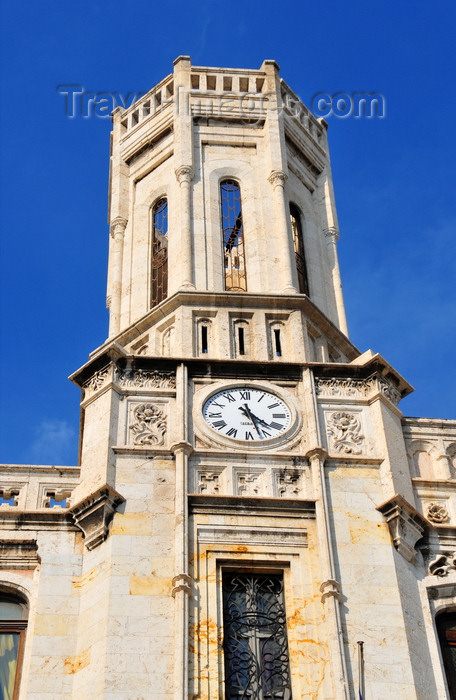 sardinia349: Cagliari, Sardinia / Sardegna / Sardigna: one of the octagonal towers of the City Hall / Palazzo Civico - Via Roma - Piazza Matteotti - quartiere Stampace - photo by M.Torres - (c) Travel-Images.com - Stock Photography agency - Image Bank