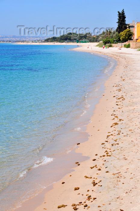 sardinia373: Cagliari, Sardinia / Sardegna / Sardigna: Margine Rosso beach - Poetto beach in the background - Quartu Sant'Elena - photo by M.Torres - (c) Travel-Images.com - Stock Photography agency - Image Bank