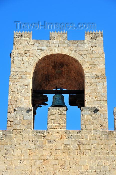 sardinia39: Oristano / Aristanis, Oristano province, Sardinia / Sardegna / Sardigna: bell on the tower of San Cristoforo / Mariano II / Porta Manna - piazza Roma - photo by M.Torres - (c) Travel-Images.com - Stock Photography agency - Image Bank