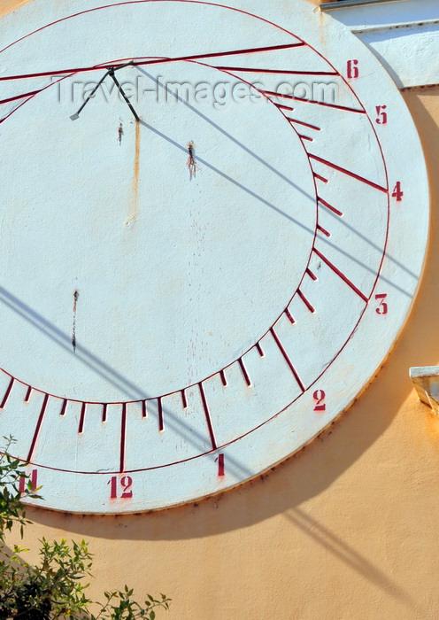 sardinia44: Oristano / Aristanis, Oristano province, Sardinia / Sardegna / Sardigna: sundial on the wall of the City Hall - Piazza Eleonora d'Arborea - Palazzo Comunale - Meridiana - photo by M.Torres - (c) Travel-Images.com - Stock Photography agency - Image Bank