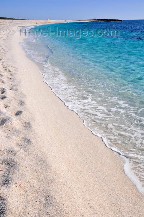sardinia50: San Giovanni di Sinis, Oristano province, Sardinia / Sardegna / Sardigna: pure white sand beach on the Sinis peninsula - Mediterranean sea - photo by M.Torres - (c) Travel-Images.com - Stock Photography agency - Image Bank