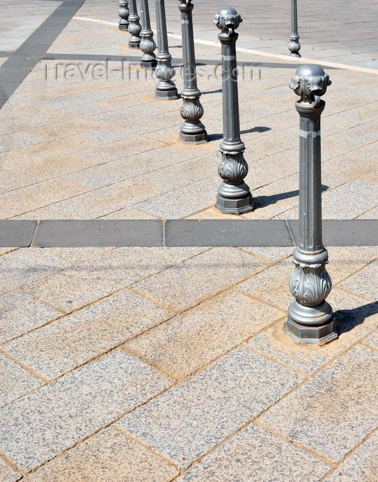 sardinia78: Tuili, Medio Campidano province, Sardinia / Sardegna / Sardigna: pillars for pedestrian protection - photo by M.Torres - (c) Travel-Images.com - Stock Photography agency - Image Bank