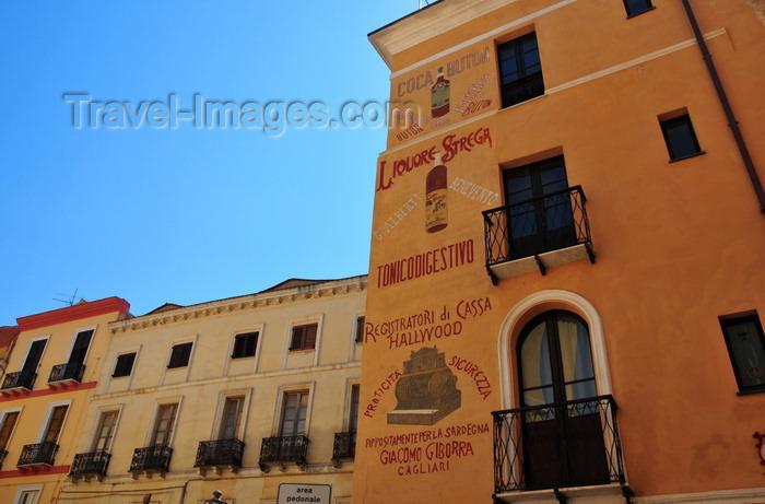 sardinia99: Iglesias /  Igrèsias, Carbonia-Iglesias province, Sardinia / Sardegna / Sardigna: façade with painted ads - photo by M.Torres - (c) Travel-Images.com - Stock Photography agency - Image Bank