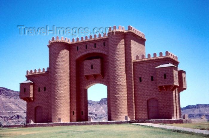 saudi-arabia108: Saudi Arabia - Al-Ula / Al-Ola: gate (photo by F.Rigaud) - (c) Travel-Images.com - Stock Photography agency - Image Bank