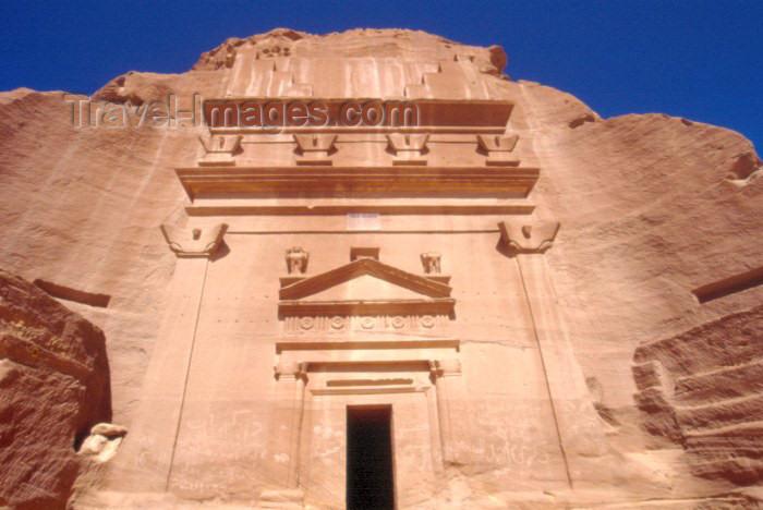 saudi-arabia116: Saudi Arabia - Madain Salah  / Madain Saleh: Nabatean tomb entrance - Unesco world heritage site - photo by F.Rigaud - (c) Travel-Images.com - Stock Photography agency - Image Bank
