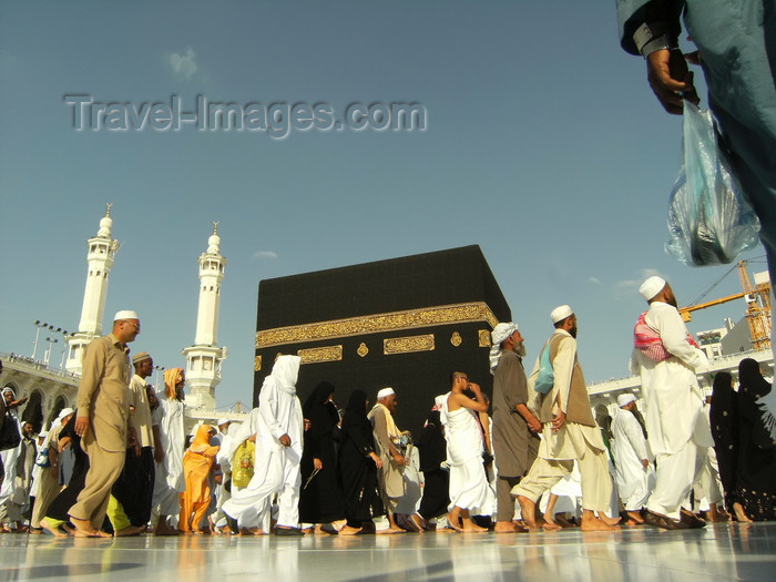saudi-arabia161: Mecca / Makkah, Saudi Arabia: close up view of the Holy Kaaba, Arabic for 'square house' - ground floor of Haram Mosque  - photo by A.Faizal - (c) Travel-Images.com - Stock Photography agency - Image Bank