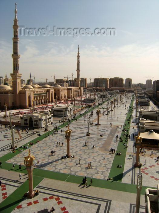 medina madinah saudi arabia exterior of masjid al nabawi or