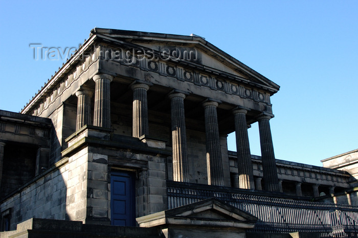 scot1: Scotland - Ecosse - Edinburgh / EDI: Royal High School, Calton Hill - architect Thomas Hamilton - Greek Revival architecture - Doric hexastyle portico - photo by C.McEachern - (c) Travel-Images.com - Stock Photography agency - Image Bank