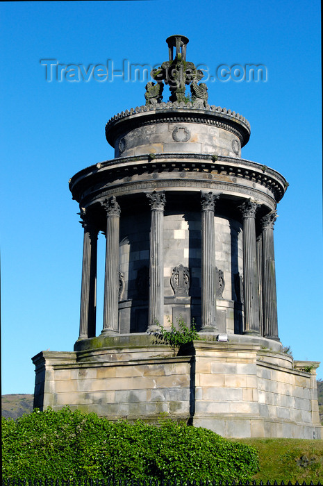 scot130: Scotland - Edinburgh: The Burns Monument is situated on Regent Road, beneath Calton Hill - photo by C.McEachern - (c) Travel-Images.com - Stock Photography agency - Image Bank