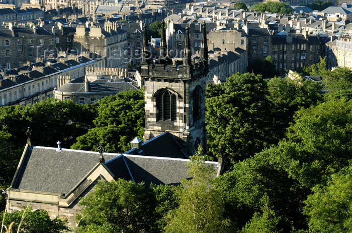 scot132: Scotland - Edinburgh: view from the north side of Calton Hill - church tower - photo by C.McEachern - (c) Travel-Images.com - Stock Photography agency - Image Bank
