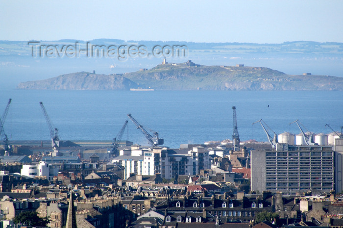 scot133: Scotland - Edinburgh: view towards Leith from Calton Hill showing the Firth of Forth - port - photo by C.McEachern - (c) Travel-Images.com - Stock Photography agency - Image Bank
