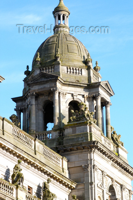 scot154: Scotland - Glasgow : secondary or side dome of the City Chambers on George Square - designed by William Young and built in 1888 - photo by C.McEachern - (c) Travel-Images.com - Stock Photography agency - Image Bank