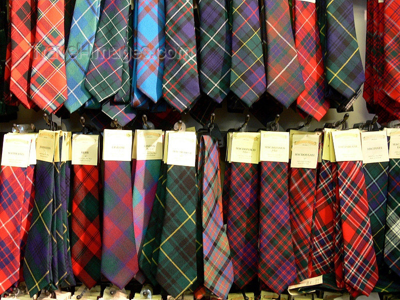 scot212: Scotland - Edinburgh: ties with tartan patterns - photo by J.Kaman - (c) Travel-Images.com - Stock Photography agency - Image Bank