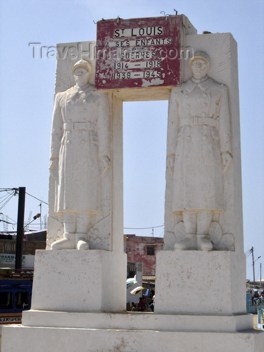 senegal11: Senegal - Saint Louis: monument to the soldiers fallen for France in both world wars - Fishermen's Port - photo by G.Frysinger - (c) Travel-Images.com - Stock Photography agency - Image Bank
