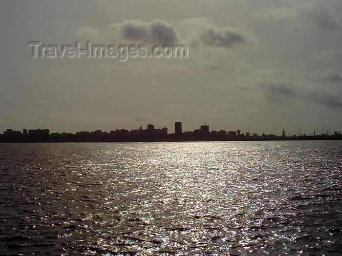 senegal120: Dakar, Senegal: silhouette of Dakar in the afternoon - urban skyline seen from Ile de Gorée - photo by T.Trenchard - (c) Travel-Images.com - Stock Photography agency - Image Bank