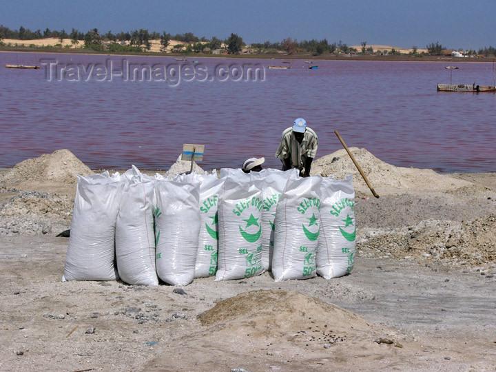 senegal19: Senegal - Lake Retba or Lake Rose: salt bags - photo by G.Frysinger - (c) Travel-Images.com - Stock Photography agency - Image Bank
