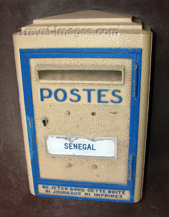 senegal34: Senegal - postal box - photo by G.Frysinger - (c) Travel-Images.com - Stock Photography agency - Image Bank