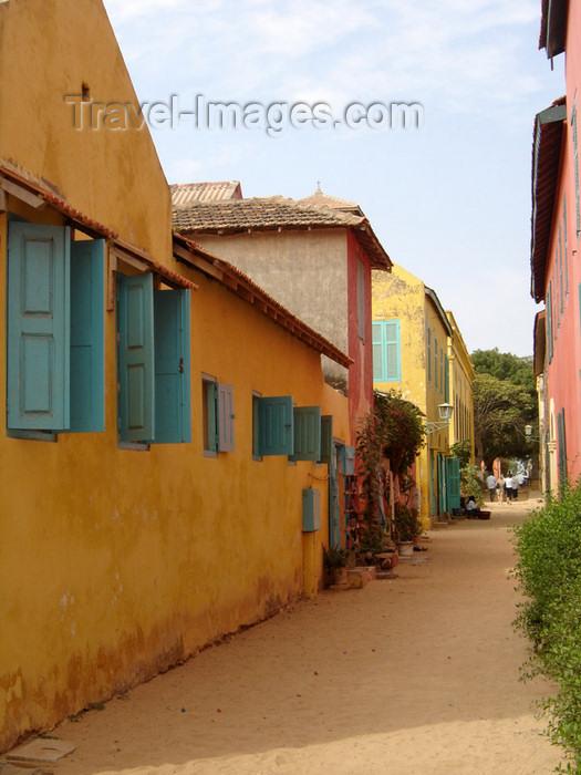 senegal4: Senegal - Gorée Island - Senegalese houses - photo by G.Frysinger - (c) Travel-Images.com - Stock Photography agency - Image Bank