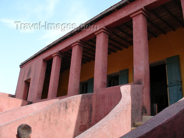 senegal40: Senegal - Gorée Island - House of Slaves - stairs - UNESCO world heritage site - photo by G.Frysinger - (c) Travel-Images.com - Stock Photography agency - Image Bank