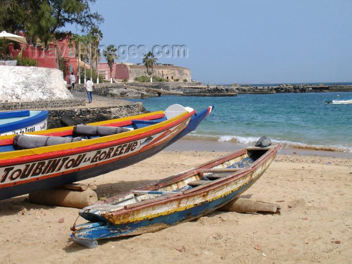 senegal47: Senegal - Gorée Island: fishing boats - photo by G.Frysinger - (c) Travel-Images.com - Stock Photography agency - Image Bank