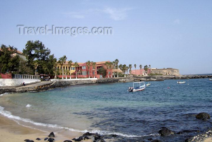 senegal6: Senegal - Gorée Island - island harbor - beach and fort - photo by G.Frysinger - (c) Travel-Images.com - Stock Photography agency - Image Bank
