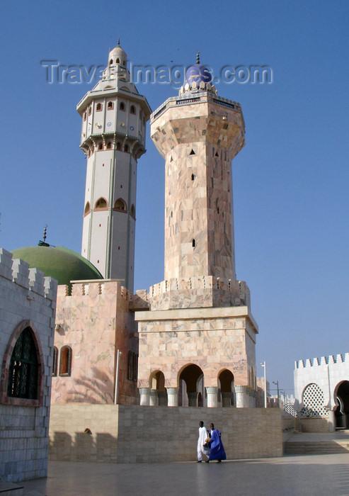 senegal84: Senegal - Touba - Great mosque - two minarets - photo by G.Frysinger - (c) Travel-Images.com - Stock Photography agency - Image Bank