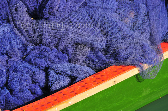 seychelles104: Mahe, Seychelles: Bel Ombre - fishing nets on a boat - photo by M.Torres - (c) Travel-Images.com - Stock Photography agency - Image Bank