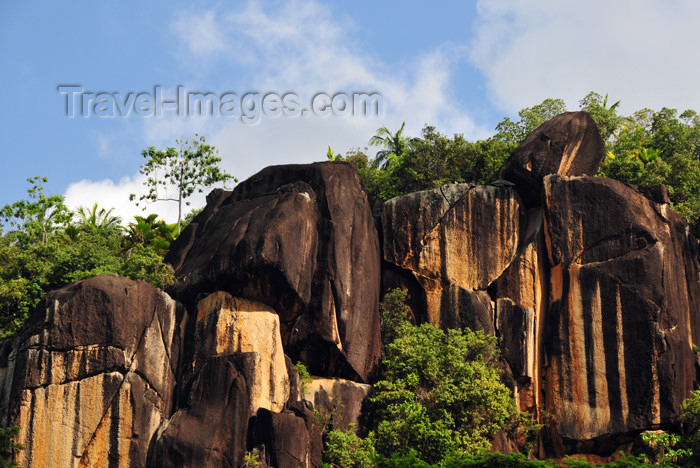 seychelles110: Mahe, Seychelles: Anse Louis - cliffs - photo by M.Torres - (c) Travel-Images.com - Stock Photography agency - Image Bank