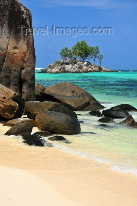 seychelles131: Mahe, Seychelles: Anse Royal - ile Souris, beach and large rocks - photo by M.Torres - (c) Travel-Images.com - Stock Photography agency - Image Bank