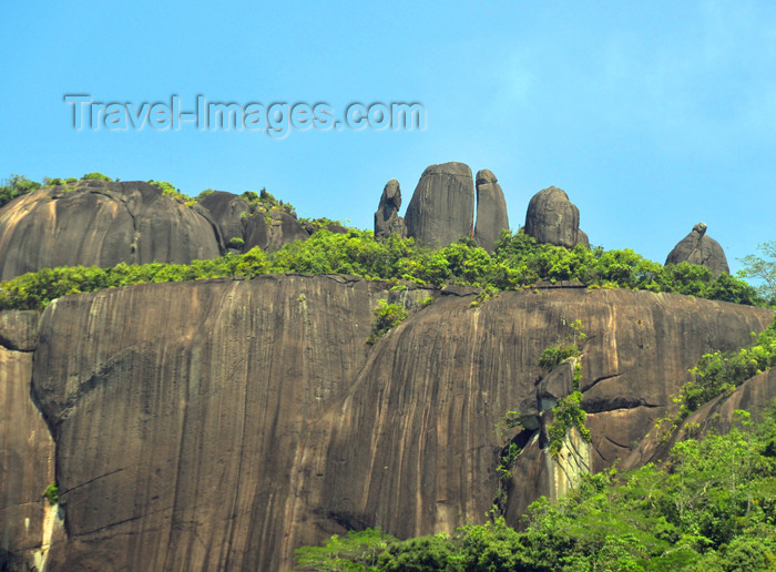 seychelles154: Mahe, Seychelles: Pointe Larue - rock wall and natural 'menhirs' near the airport - photo by M.Torres - (c) Travel-Images.com - Stock Photography agency - Image Bank