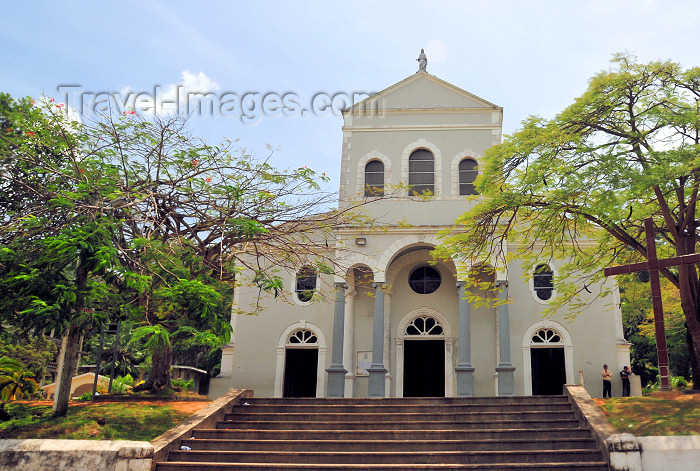 seychelles18: Mahe island, Seychelles: Victoria - the Cathedral - façade - Roman Catholic Cathedral of the Immaculate Conception - photo by M.Torres - (c) Travel-Images.com - Stock Photography agency - Image Bank