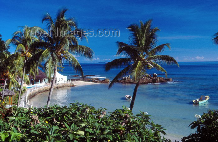 seychelles26: Mahe island, Seychelles: Bel Ombre - Fisherman's Cove - view from hotel Le Meridien - photo by F.Rigaud - (c) Travel-Images.com - Stock Photography agency - Image Bank
