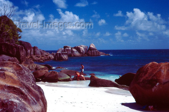 seychelles7: Seychelles - Mahe island: Anse Takamaka - beach - photo by F.Rigaud - (c) Travel-Images.com - Stock Photography agency - Image Bank