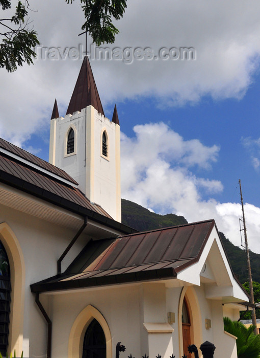 seychelles79: Mahe, Seychelles: Victoria - St Paul's Anglican cathedral - Revolution Avenue - photo by M.Torres - (c) Travel-Images.com - Stock Photography agency - Image Bank