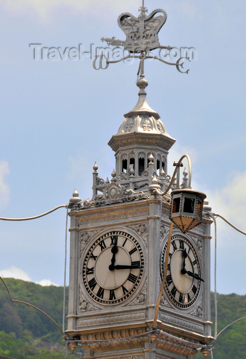 seychelles83: Mahe, Seychelles: Victoria - clock tower - photo by M.Torres - (c) Travel-Images.com - Stock Photography agency - Image Bank