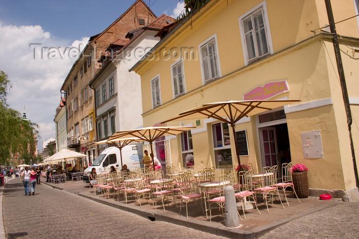 slovenia107: Nana restaurant, beside the Ljubljanica river, Ljubljana, Slovenia - photo by I.Middleton - (c) Travel-Images.com - Stock Photography agency - Image Bank
