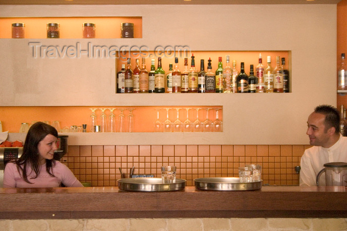 slovenia116: Staff in cafe / bar Bistro Ambient, Ljubljana , Slovenia - photo by I.Middleton - (c) Travel-Images.com - Stock Photography agency - Image Bank