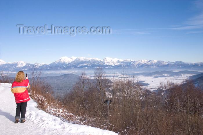 slovenia123: visitor shoots a photo of the landscap - Smarna Gora mountain on the outskirts of Ljubljana, Slovenia - photo by I.Middleton - (c) Travel-Images.com - Stock Photography agency - Image Bank