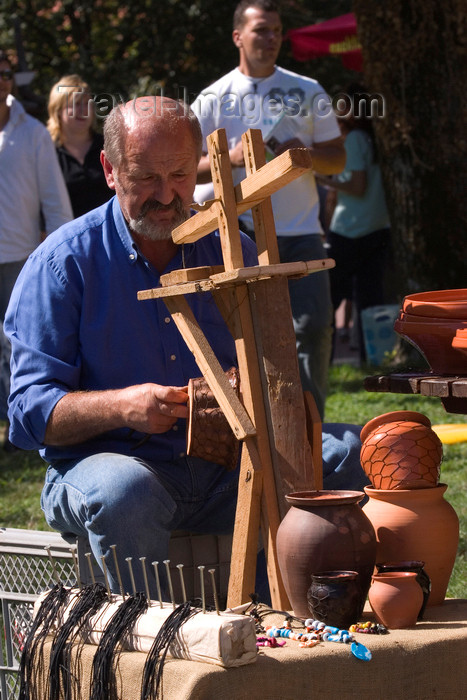 slovenia125: Slovenia - Lipica / Lipizza - Goriska region: Lipica stud farm - Craft fair during an special open day - artisan - photo by I.Middleton - (c) Travel-Images.com - Stock Photography agency - Image Bank