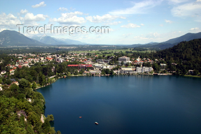 slovenia155: Slovenia - View of Bled town and lake from the castle - photo by I.Middleton - (c) Travel-Images.com - Stock Photography agency - Image Bank