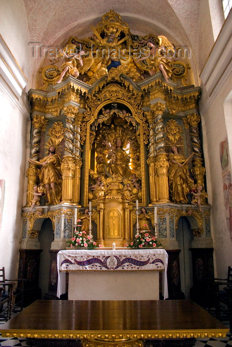 slovenia176: Slovenia - altar - interior of the island church on Lake Bled - photo by I.Middleton - (c) Travel-Images.com - Stock Photography agency - Image Bank