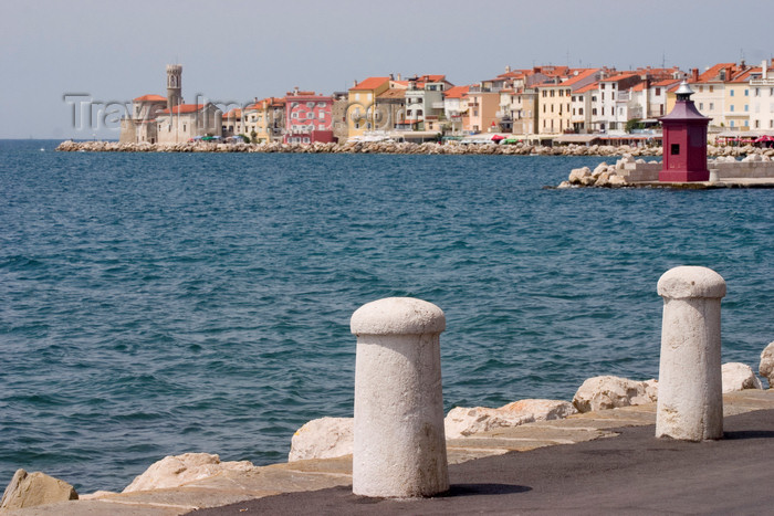 slovenia296: Slovenia - Piran / Pirano: promenade and harbour entrance - photo by I.Middleton - (c) Travel-Images.com - Stock Photography agency - Image Bank